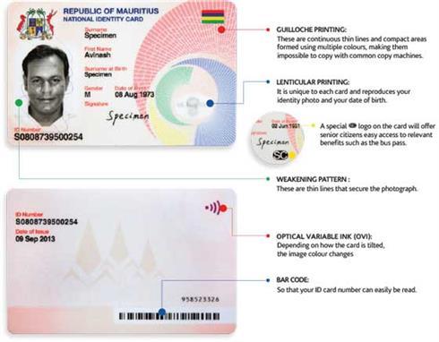 new identity card mauritius