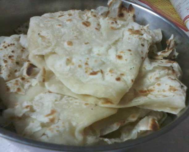 home made roti