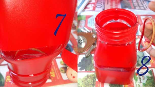 steps 7 & 8 - jar with rubber band