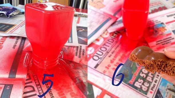 steps 5 & 6 - painted jar