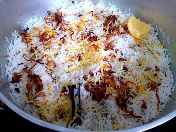 rice fried onions