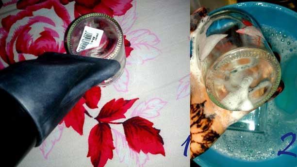 steps 1 & 2washing jar