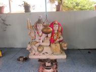 shiva idol display