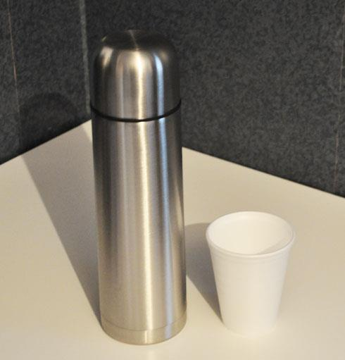 hot coffee in thermal flask